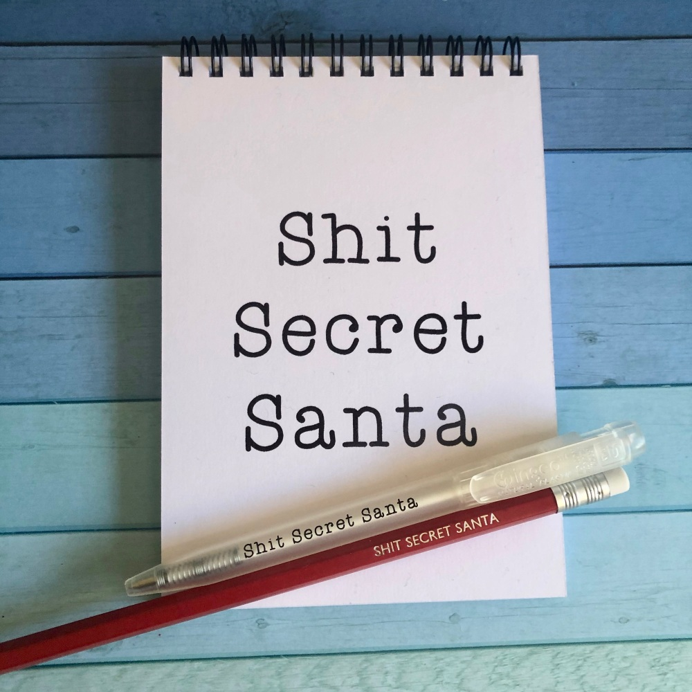 Shit Secret Santa Notebook, Pencil & Pen set