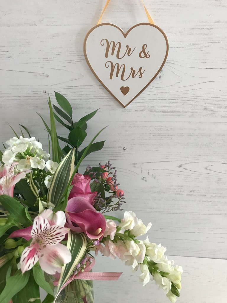 Mr & Mrs Hanging Heart