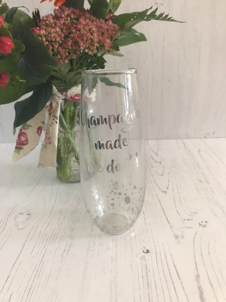 Hand Me The Champagne Stemless Flute
