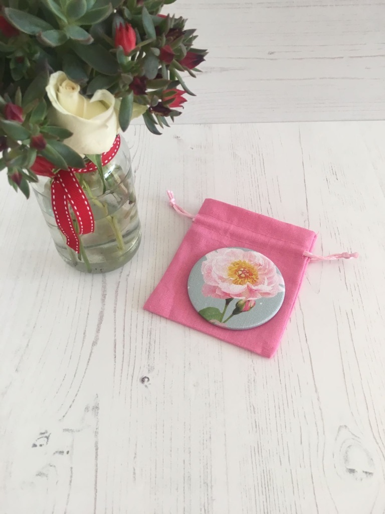 Peonie Cole Time to Bloom Peony Pocket Mirror