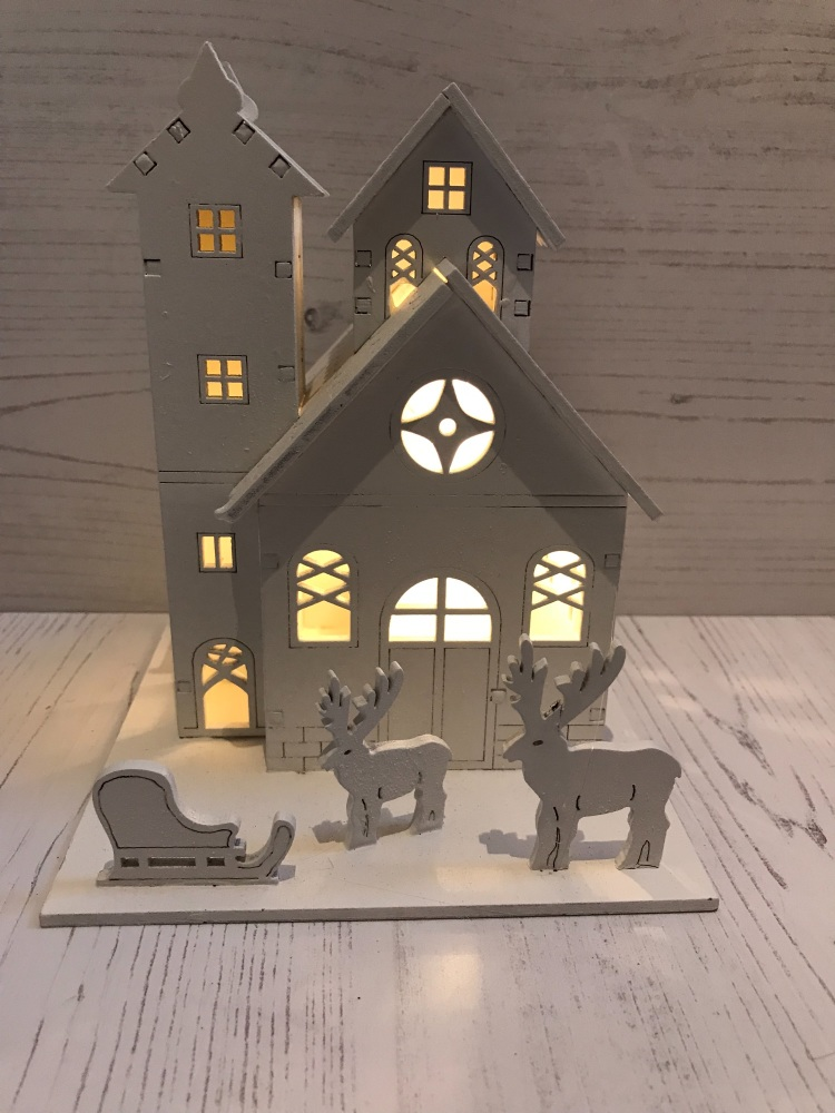 Wooden House Scene With LED