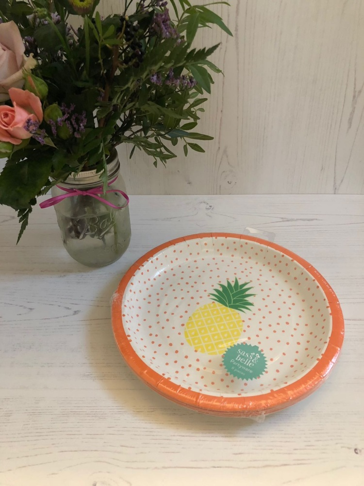 Pineapple Party Paper Plates