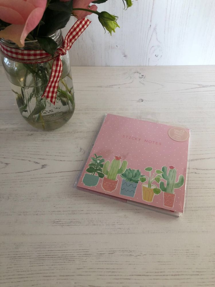 Pastel Cactus Sticky Notes