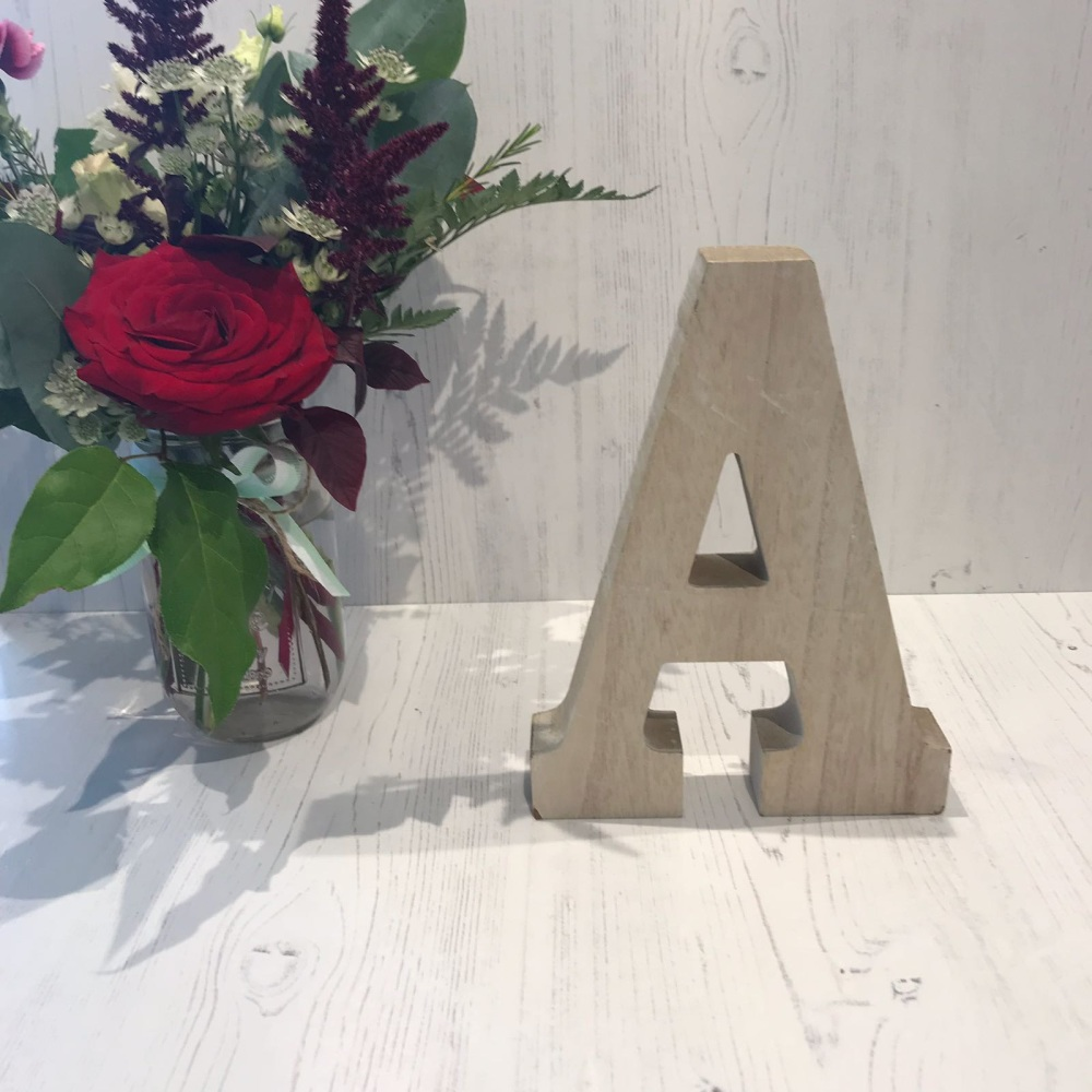 Wooden Hanging Letter A