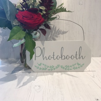 Photobooth Hanging Sign