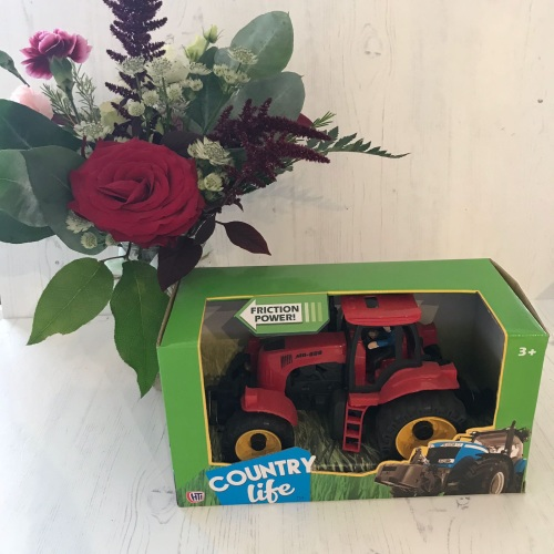 Red Tractor Toy