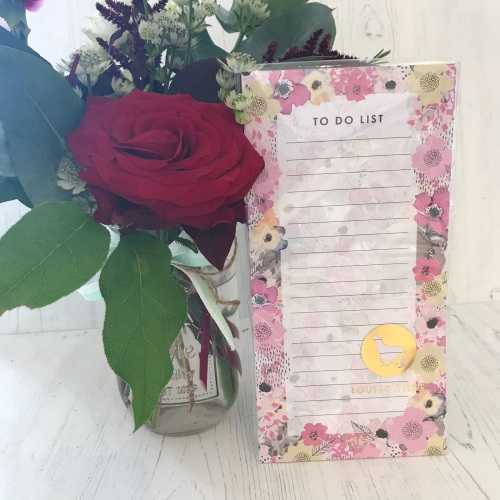 Pink Floral To Do List