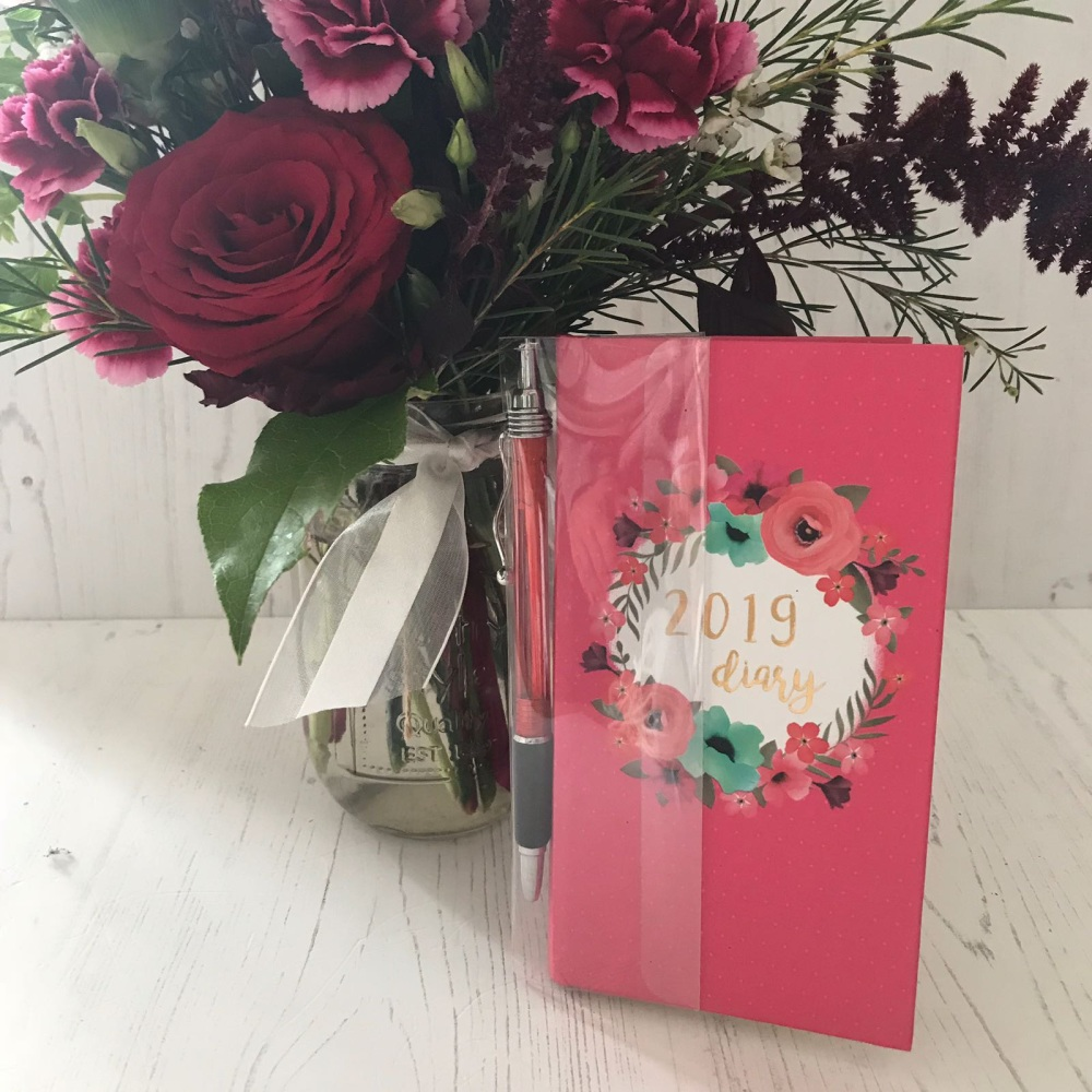 Pink Floral Pocket Diary