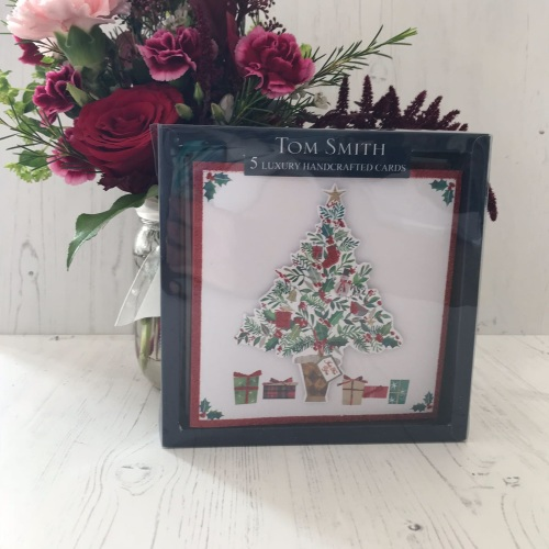 Pack of 5 Tree Christmas Cards