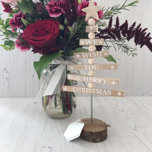 Wooden Merry Christmas Tree