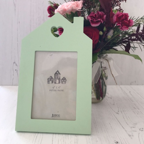Mint Green House Standing Frame