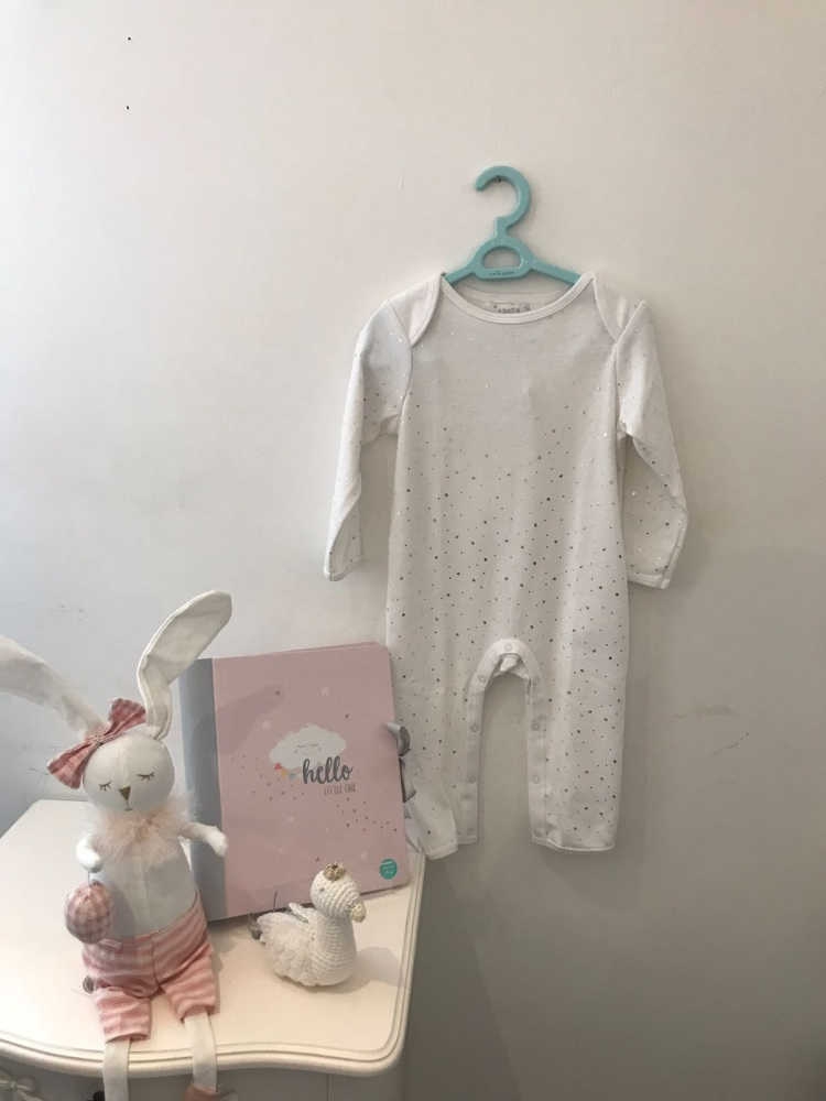 Silver Star Angel Wing Romper 6-12 months