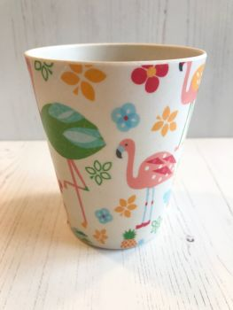 Flamingo Melamine Cups