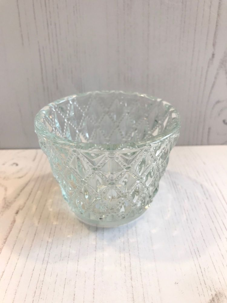 Vintage Glass Tealight Holder