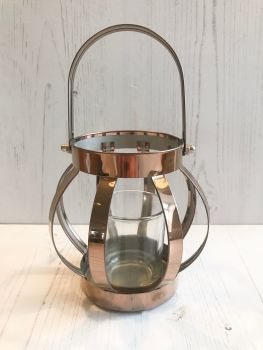 Copper Tealight Lantern