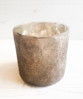 Glitter Frosted Tealight Holder
