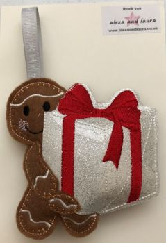 Holding Christmas Present / Birthday Present