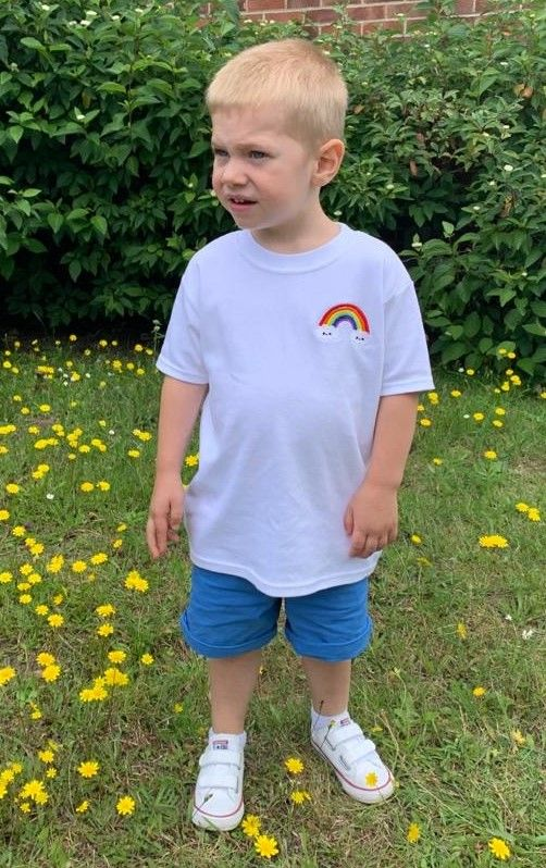 Embroidered Rainbow T Shirts