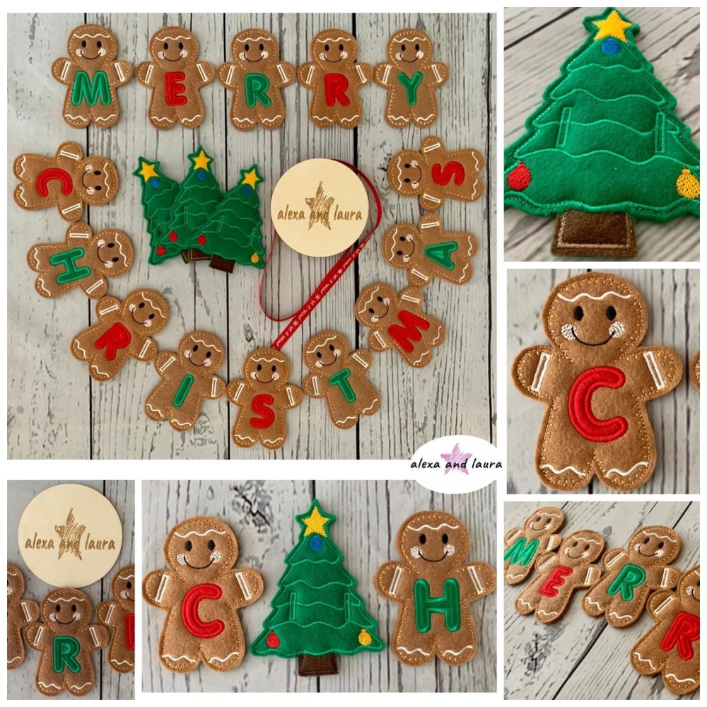 * Banner / Bunting / Merry Christmas 10cm / 4 inch Tall *