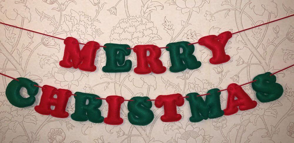 Christmas Felt Letter Banner