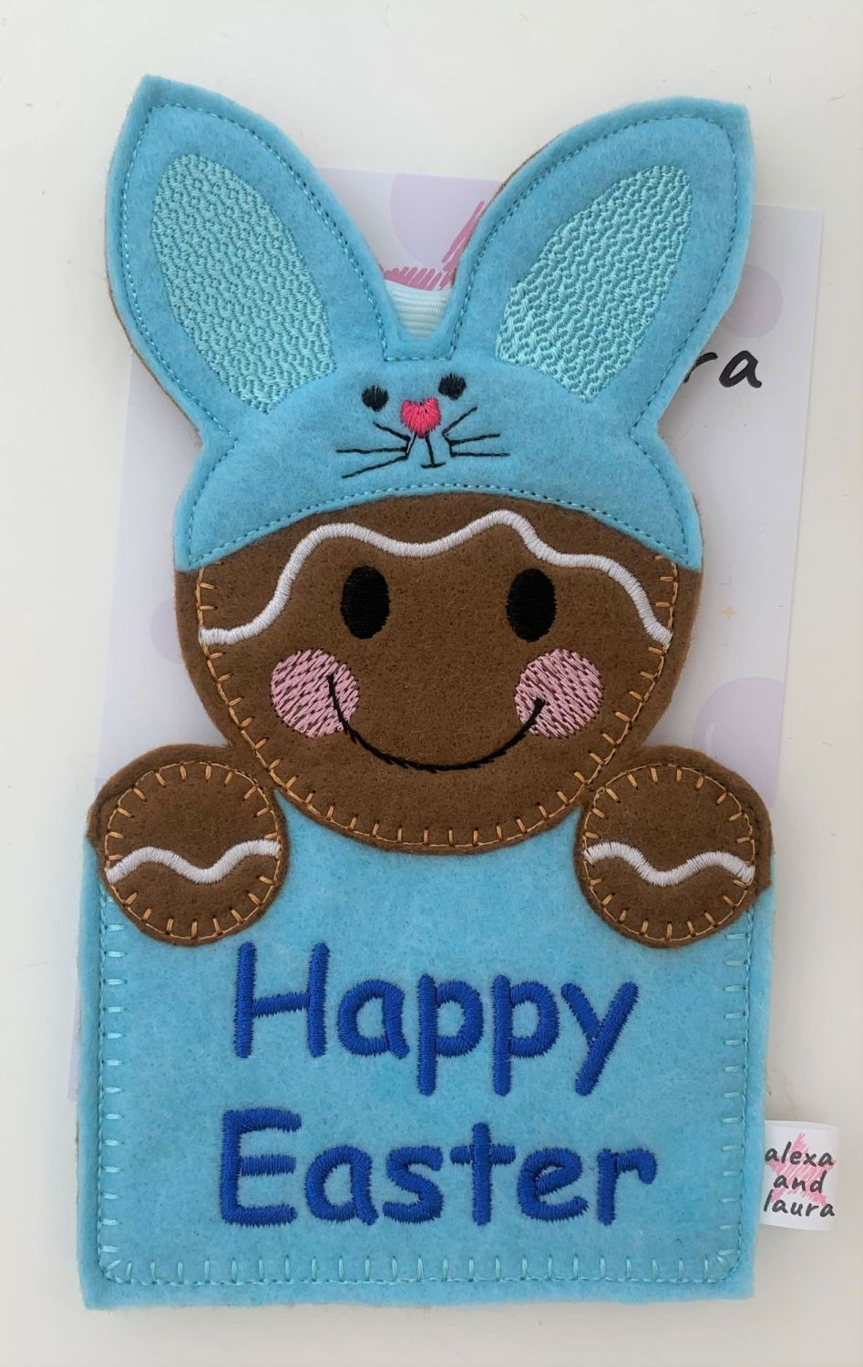 Bunny Easter Gift Pocket in Baby Blue