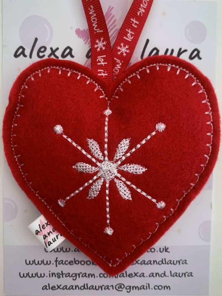 Christmas Heart - J