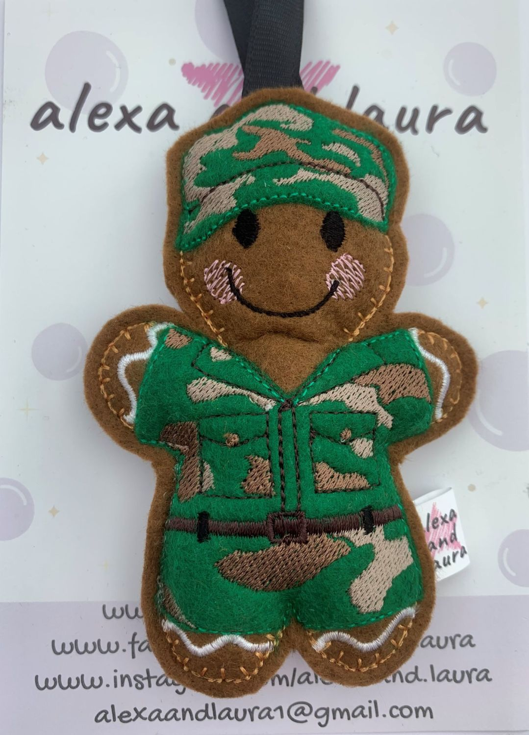 Soldier with Cap in Camouflage
