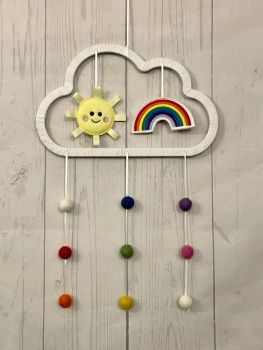 Rainbow & Sun Wall Hanging