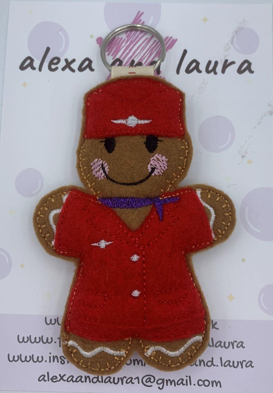 Air Hostess - Red Uniform