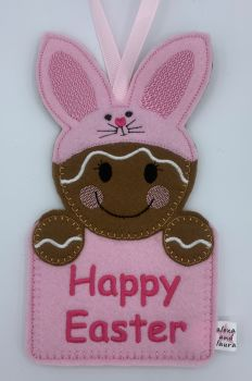 Bunny Easter Gift Pocket in Baby Pink