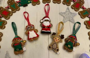 *** Set of 5 - Father Christmas, Mrs Claus, Boy Elf, Girl Elf and Reindeer***