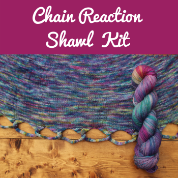 Chain Reaction Shawl Kit - Choose your Colour