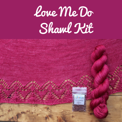 Love Me Do Shawl Kit - Choose your Colour