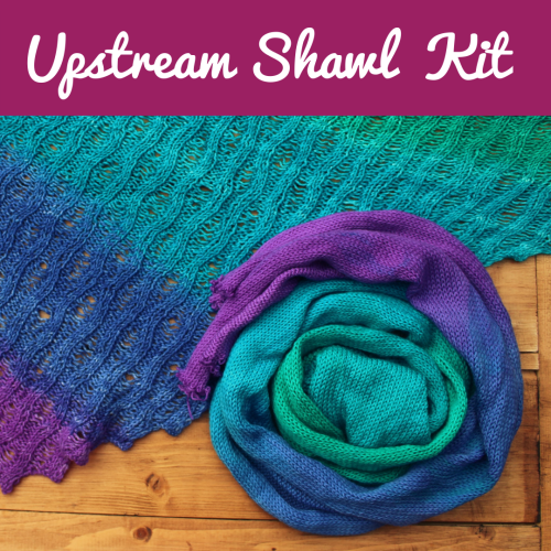 Upstream Shawl Kit - Choose your Colour