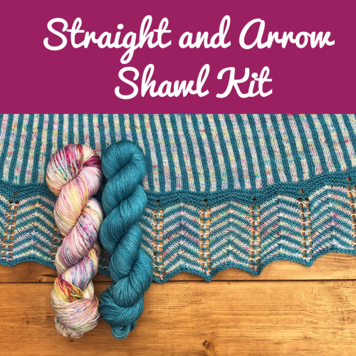 Straight and Arrow Shawl Kit - Choose your Colours