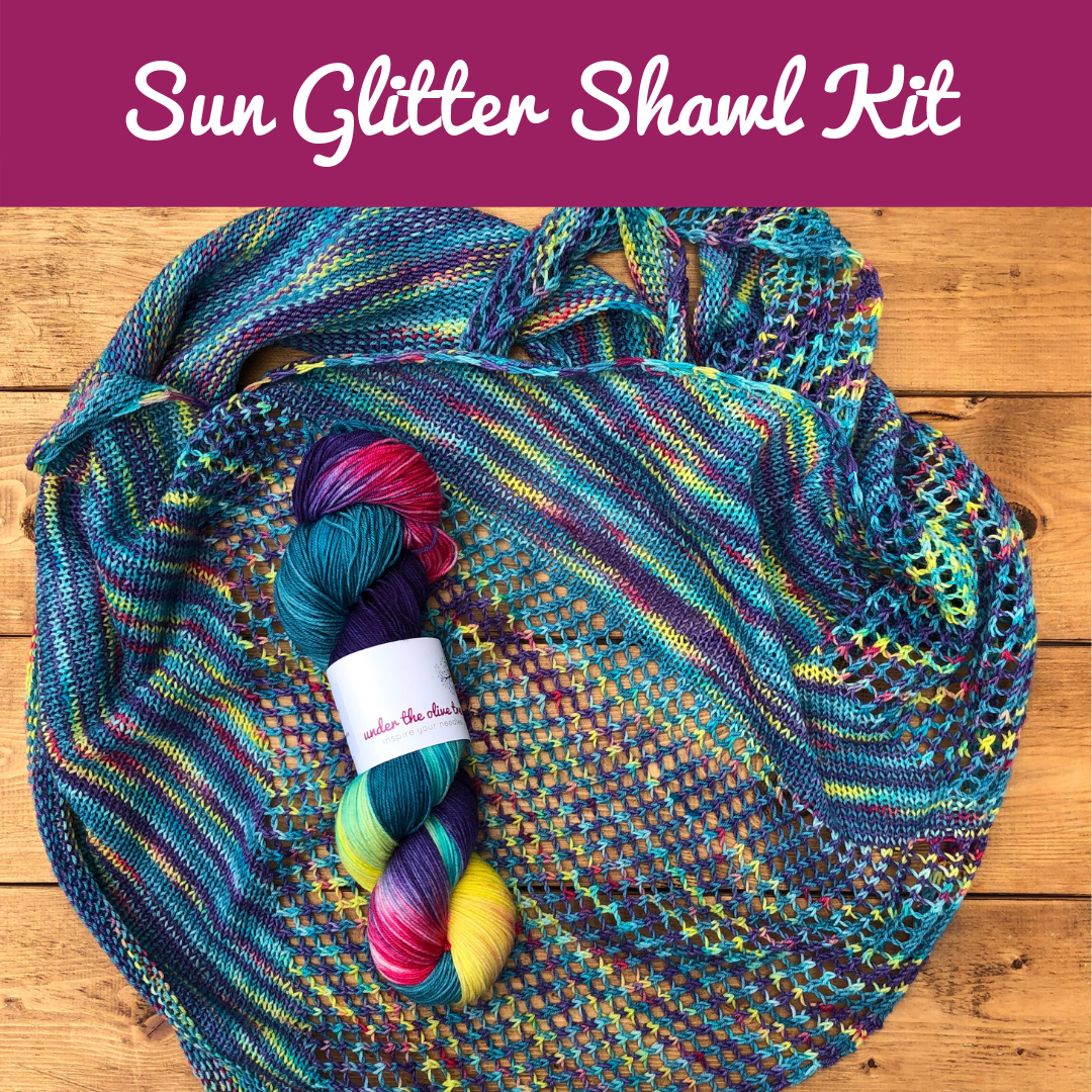 Sun Glitter Shawl Kit - Choose your Colour