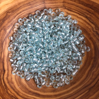 Ice Blue - Size 6 Glass Rocaille Beads