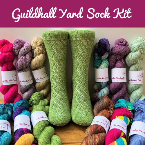 Guildhall Yard Sock Kit - Choose Your Colour