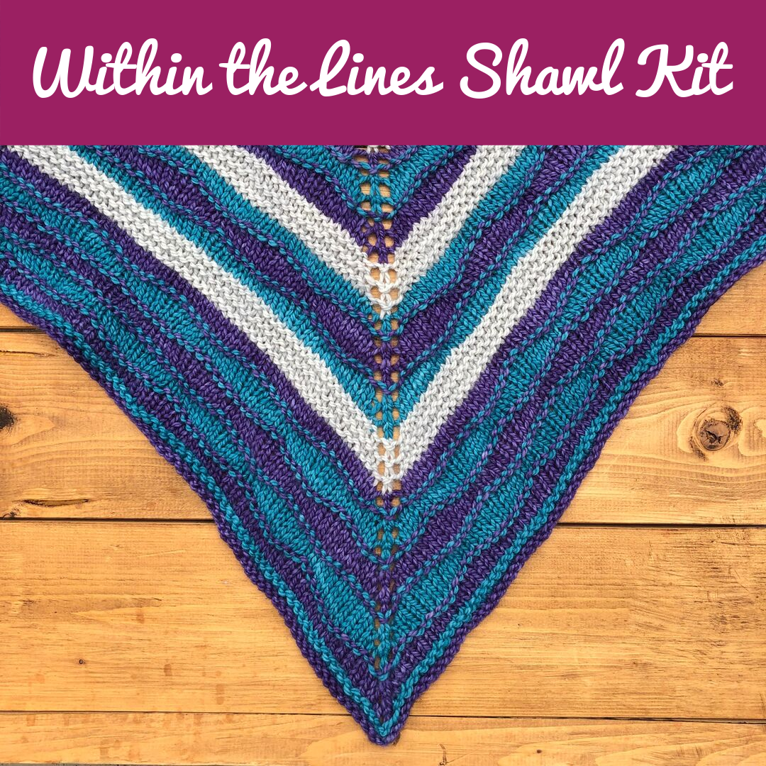 Within the Lines Shawl Kit - Choose your Colours