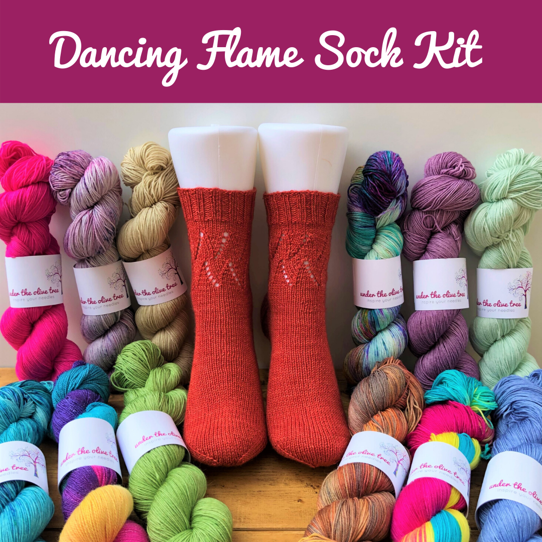 Dancing Flame Sock Kit - Choose Your Colour