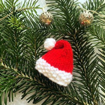 Mini Santa Hat - PDF Knitting Pattern