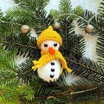 Frosty the Snowman - PDF Knitting Pattern