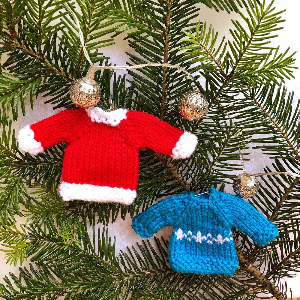 Mini Christmas Jumper - PDF Knitting Pattern
