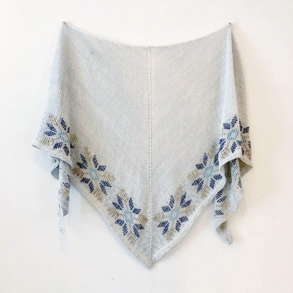 Let It Snow Shawl - PDF Knitting Pattern