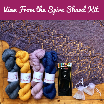 View From the Spire Shawl Kit - Choose your Colour
