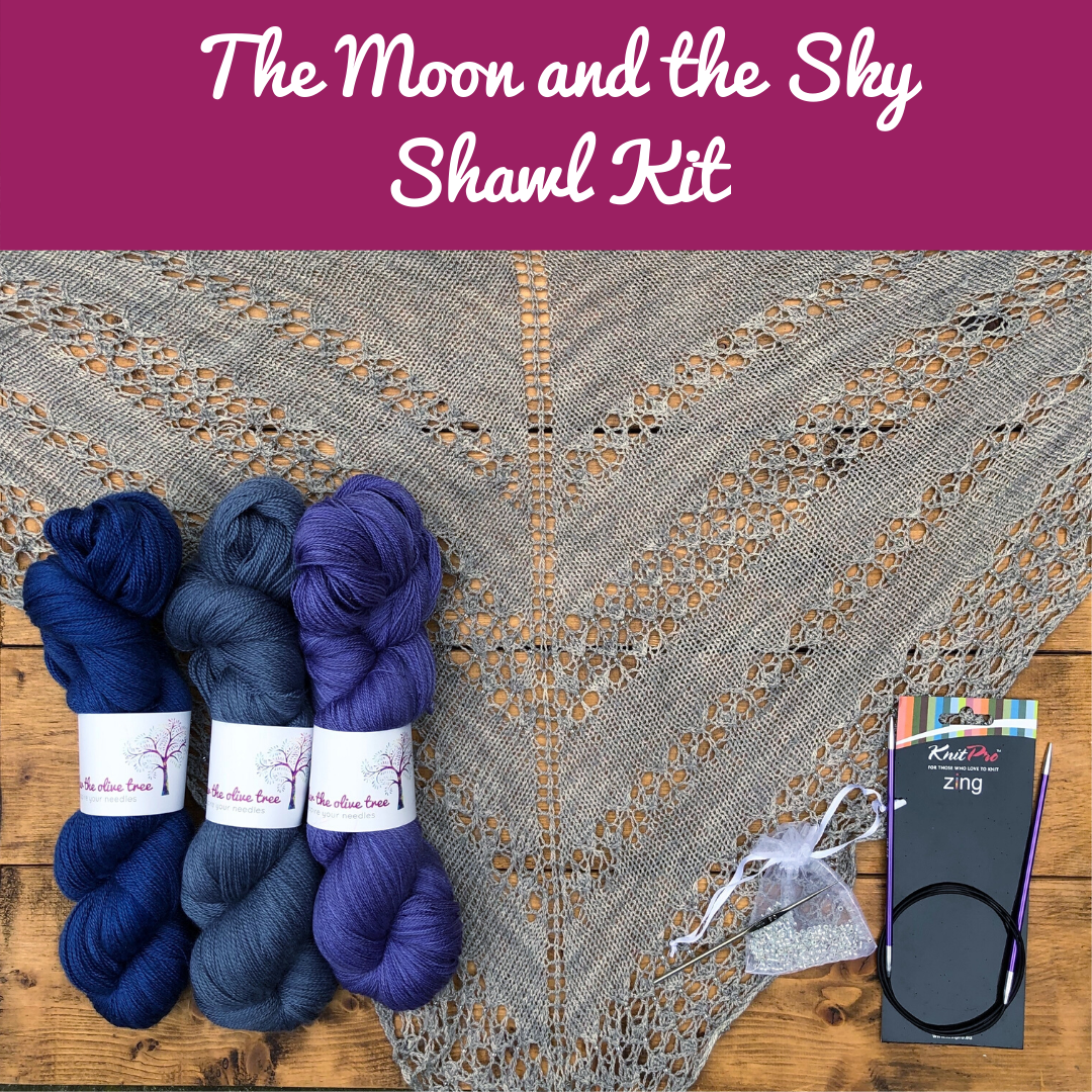 The Moon and the Sky Shawl Kit - Choose your Colour
