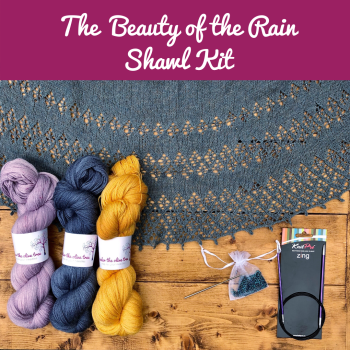 The Beauty of the Rain Shawl Kit - Choose your Colour