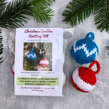 Christmas Baubles - Knitting Kit