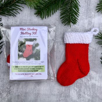 Mini Christmas Stocking - Knitting Kit