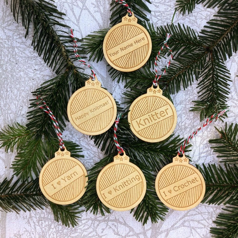 Knitter Baubles - Can Be Personalised!